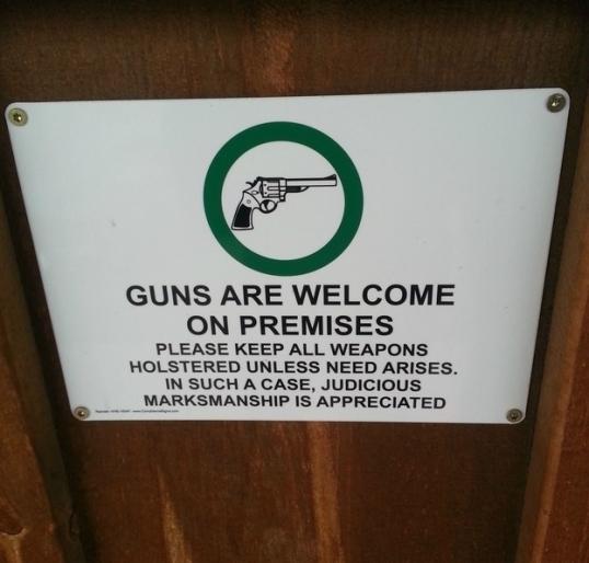 Guns Welcomed