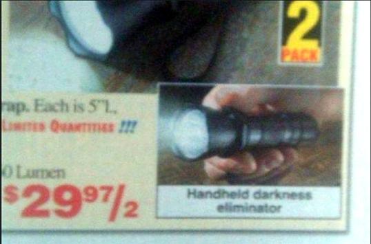 Handheld Darkness Eliminator