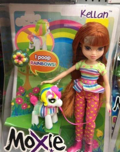 Moxie Poops Rainbows
