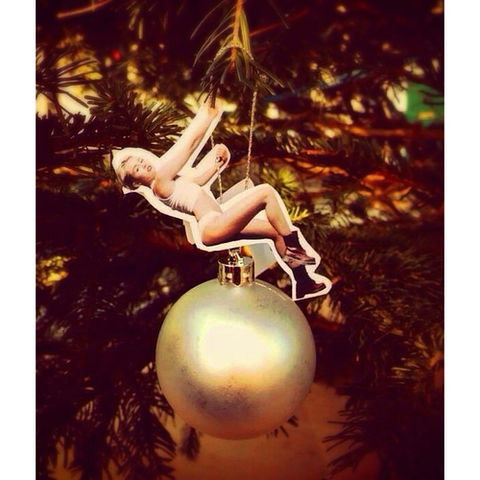 Miley Wrecking Ornament