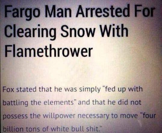 Snow Flamethrower