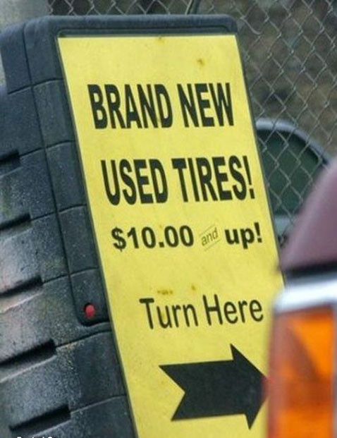 Brand New Used Tires