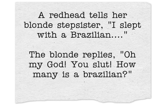 Slept with a Brazilian